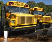 School Buses wall mural kitchen preview