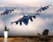 Fighter Jets wall mural kitchen preview