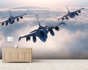 Fighter Jets wall mural living room preview