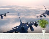Fighter Jets wall mural in-room view