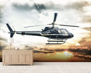 Helicopter wallpaper mural