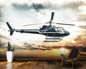 Helicopter wallpaper mural kitchen preview