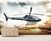 Helicopter wallpaper mural living room preview