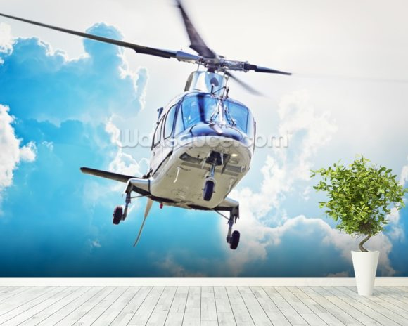 Helicopter Landing wall mural room setting