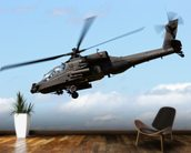 Apache Helicopter mural wallpaper kitchen preview