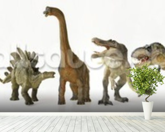 Dinosaurs Row wall mural room setting