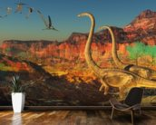 Omeisaurus Dinosaurs wallpaper mural kitchen preview