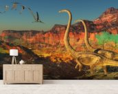 Omeisaurus Dinosaurs wallpaper mural living room preview