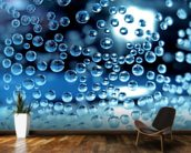 Water droplets mural wallpaper kitchen preview