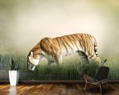 Tiger Near Pond wall mural kitchen preview
