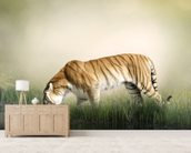 Tiger Near Pond wall mural living room preview