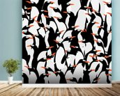 Penguins Pattern mural wallpaper in-room view