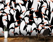 Penguins Pattern mural wallpaper kitchen preview