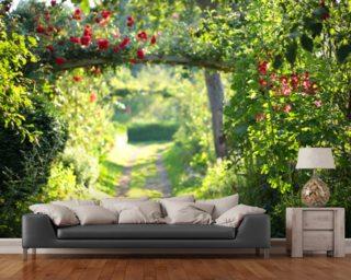 Wall Murals Wallpaper garden wall murals & garden view wallpaper murals | wallsauce usa