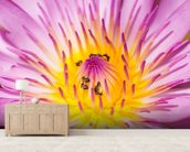 Purple Water Lilly wallpaper mural living room preview