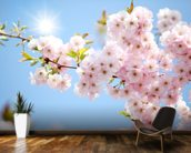 Sunlit Blossom wall mural kitchen preview