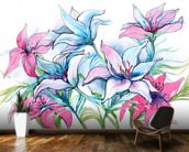 Lily Flowers wallpaper mural kitchen preview