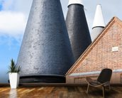 Oast Houses Kent mural wallpaper kitchen preview