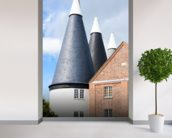 Oast Houses Kent mural wallpaper in-room view