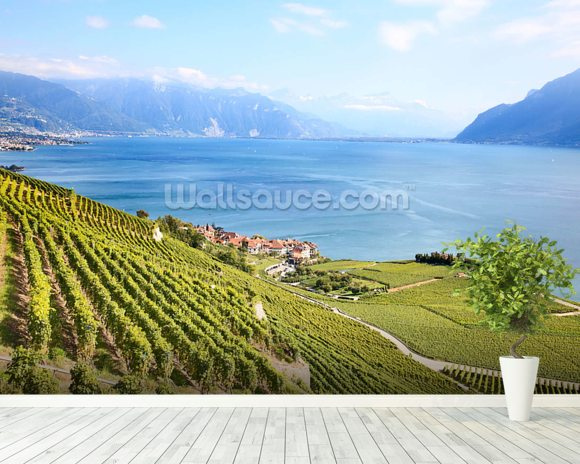 Lavaux Region Vineyards wall mural room setting