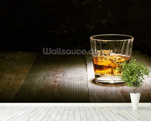 Scotch on Wood mural wallpaper room setting