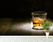 Scotch on Wood mural wallpaper in-room view