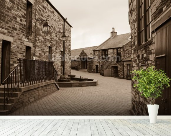 Scottish Whisky Distillery mural wallpaper room setting