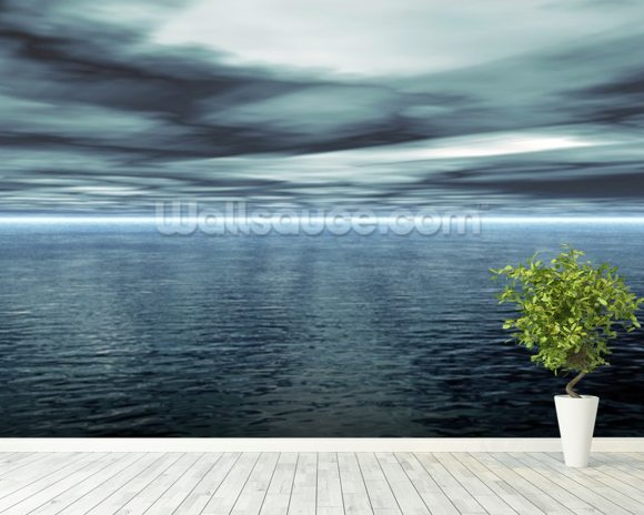 Calm Water mural wallpaper room setting