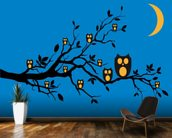 Night Owls wallpaper mural kitchen preview