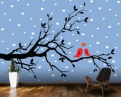 Winter Love mural wallpaper kitchen preview