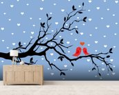 Winter Love mural wallpaper living room preview