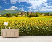 Provence Sunflowers wall mural living room preview