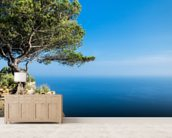 South of France Sea View mural wallpaper living room preview