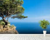 South of France Sea View mural wallpaper in-room view