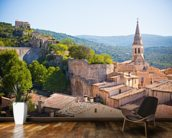 Provence - View of Saint Saturnin les d Apt mural wallpaper kitchen preview