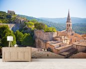 Provence - View of Saint Saturnin les d Apt mural wallpaper living room preview