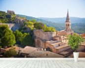 Provence - View of Saint Saturnin les d Apt mural wallpaper in-room view