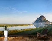 Mont Saint Michel Sunrise mural wallpaper kitchen preview