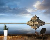 Mont Saint-Michel, Normandie wallpaper mural kitchen preview