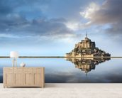 Mont Saint-Michel, Normandie wallpaper mural living room preview