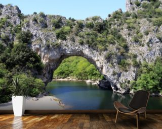 Ardeche River Arch mural wallpaper