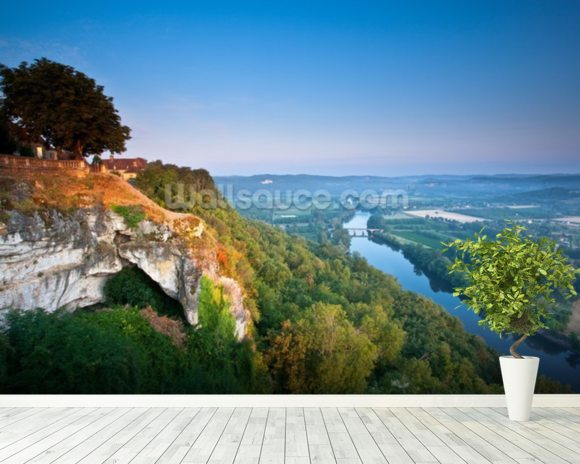 Dordogne River mural wallpaper room setting