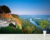 Dordogne River mural wallpaper in-room view
