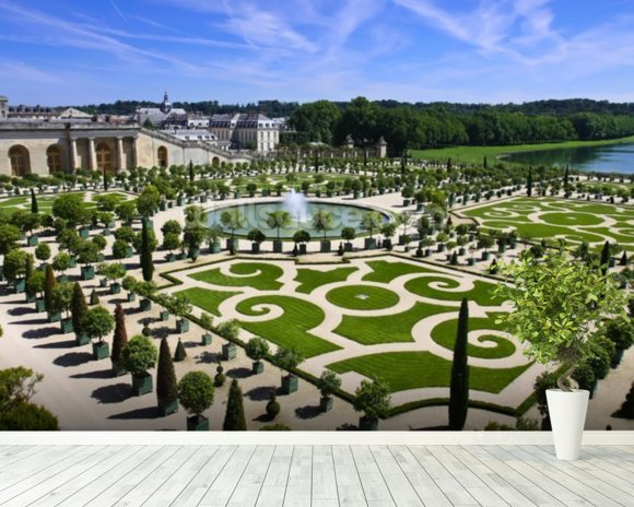 Palace of Versailles Orangerie wallpaper mural room setting