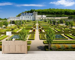 Loire   Villandry Castle And Gardens Wall Mural