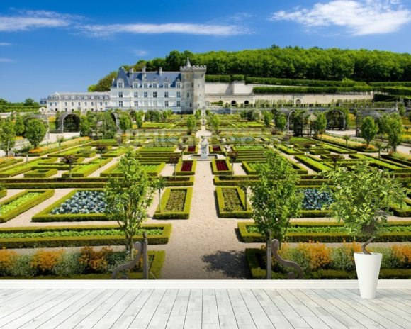 Loire - Villandry Castle and Gardens wall mural room setting