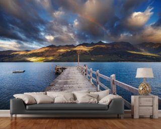Queenstown - Lake Wakatipu Jetty wallpaper mural
