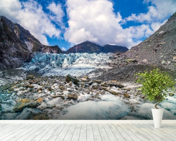 Tasman Glacier mural wallpaper room setting