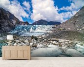Tasman Glacier mural wallpaper living room preview