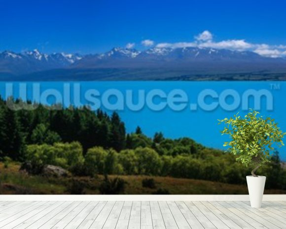 Mt. Cook from Lake Pukaki wall mural room setting